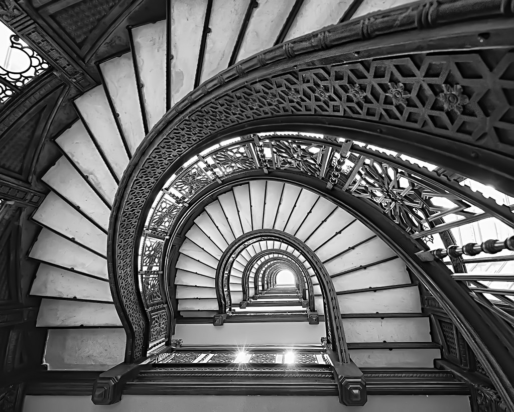 The Rookery Building Stairs