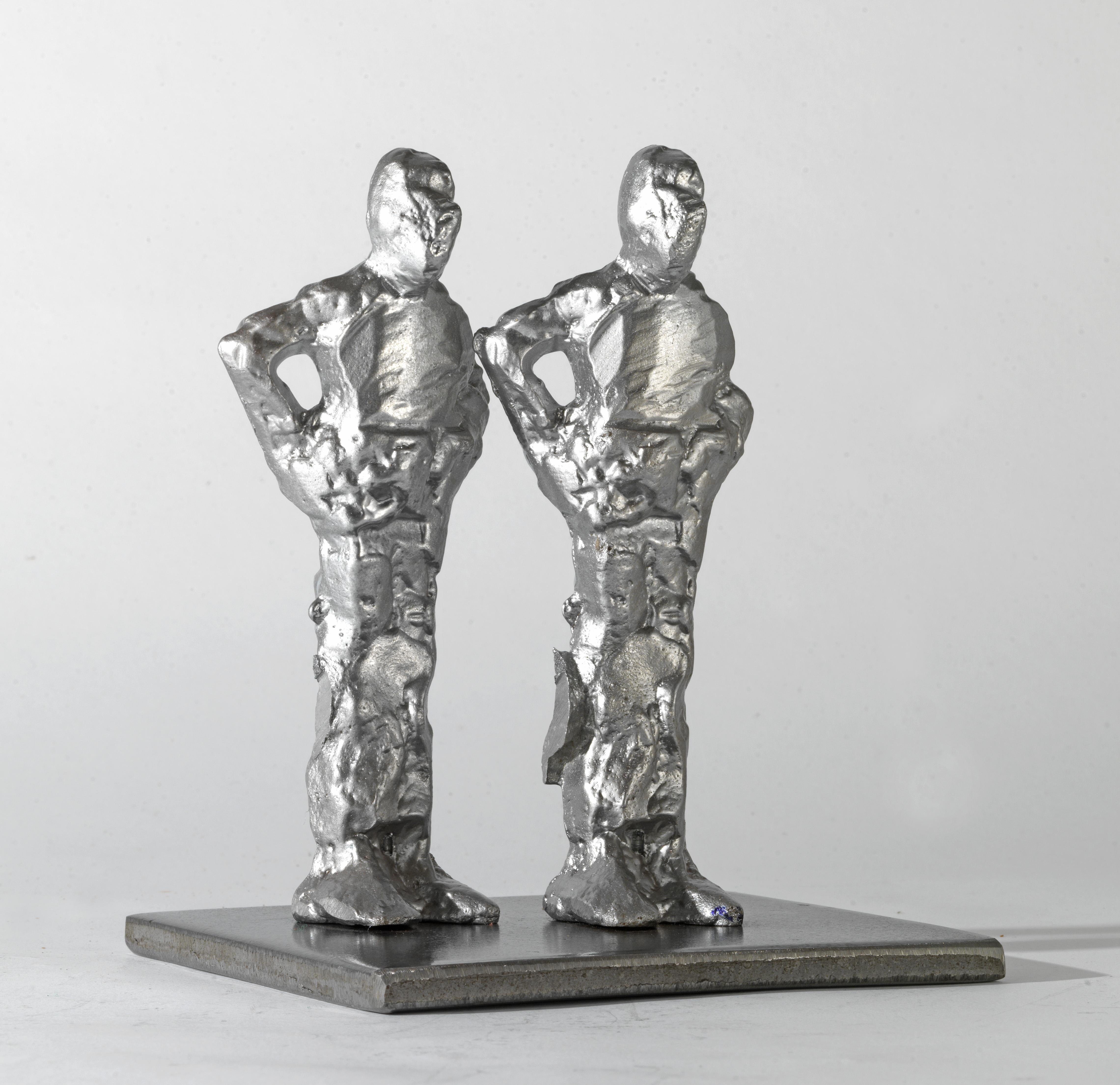 Δύο Όρθιες Ανδρικές Φιγούρες, Αλουμίνιο, 18x11x7, 2014