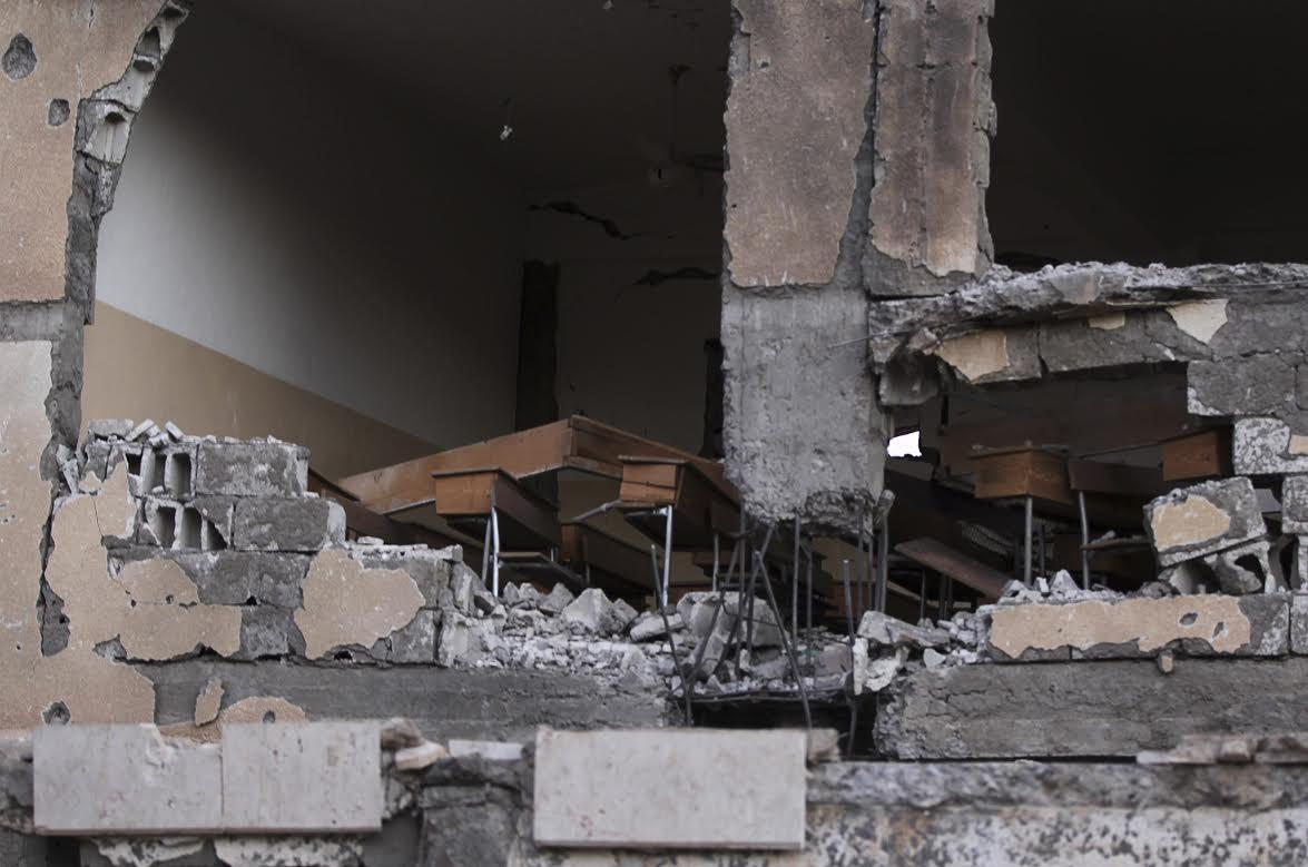 Βομβαρδισμένο σχολείο στη Συρία