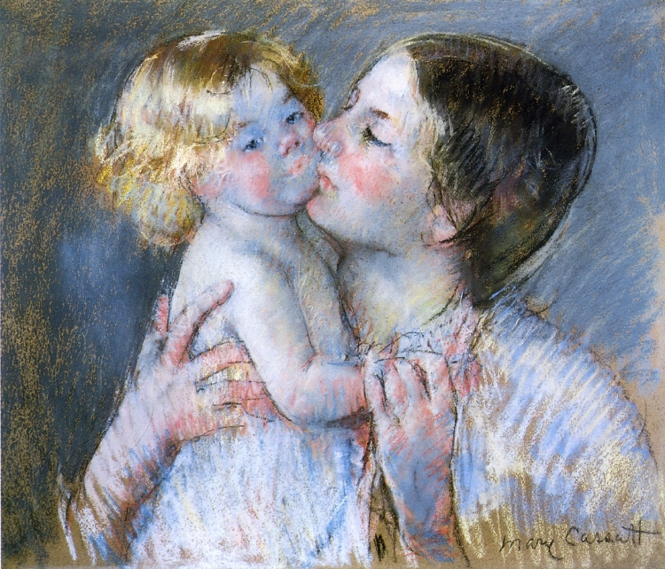 A Kiss For Baby Anne (No. 3), Mary Cassatt, Private Collection