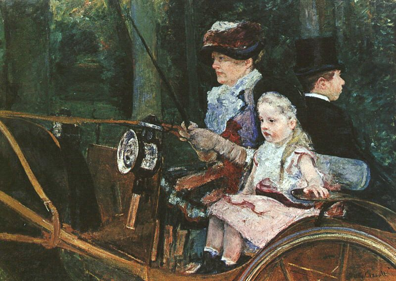 A Woman And Child In The Driving Seat, Mary Cassatt, Philadelphia Museum of Art, Philadelphia, PA, US