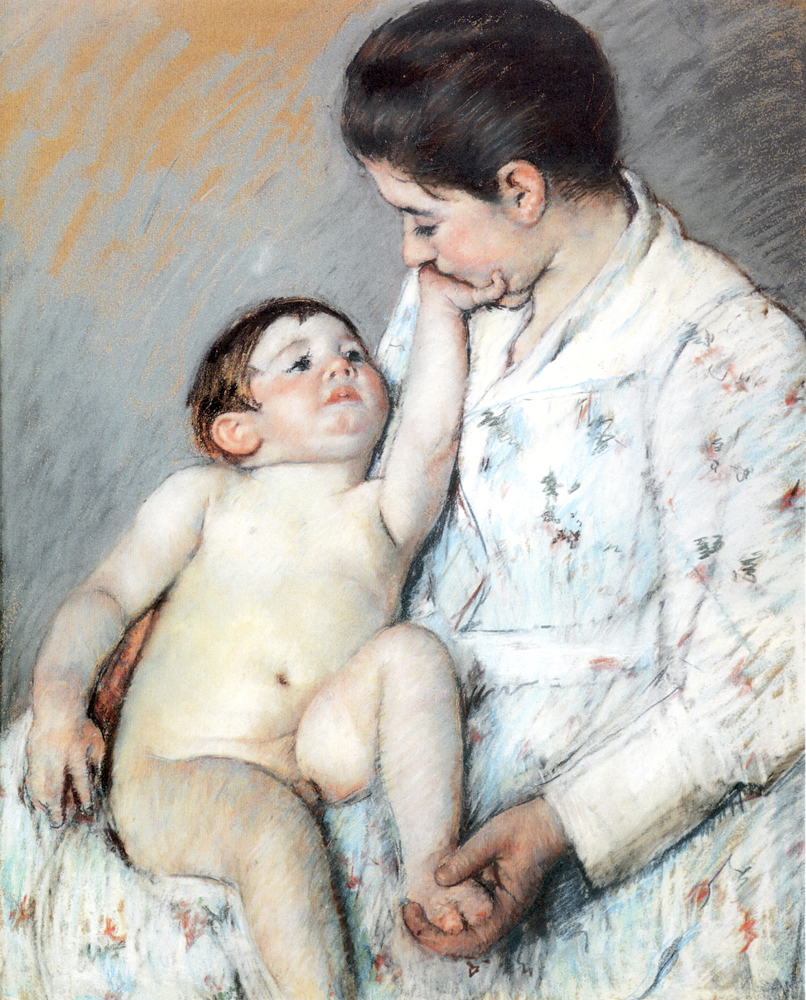 Baby`S First Cess, Mary Cassatt, Private Collection