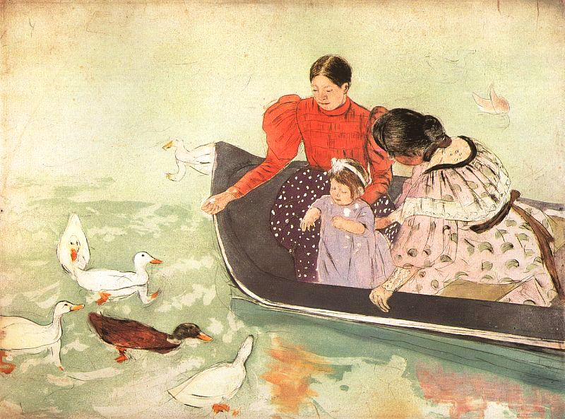 Feeding The Ducks, Mary Cassatt, Allen Memorial Art Museum (AMAM), Oberlin, OH, US