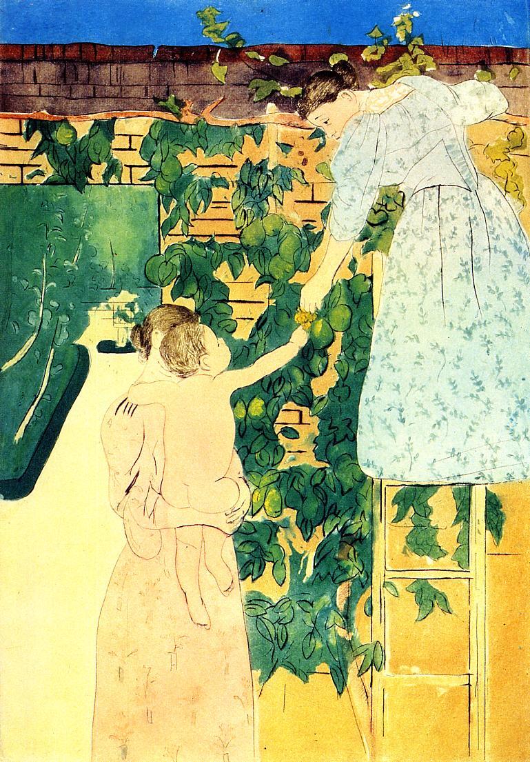 Gathering Fruit, Mary Cassatt