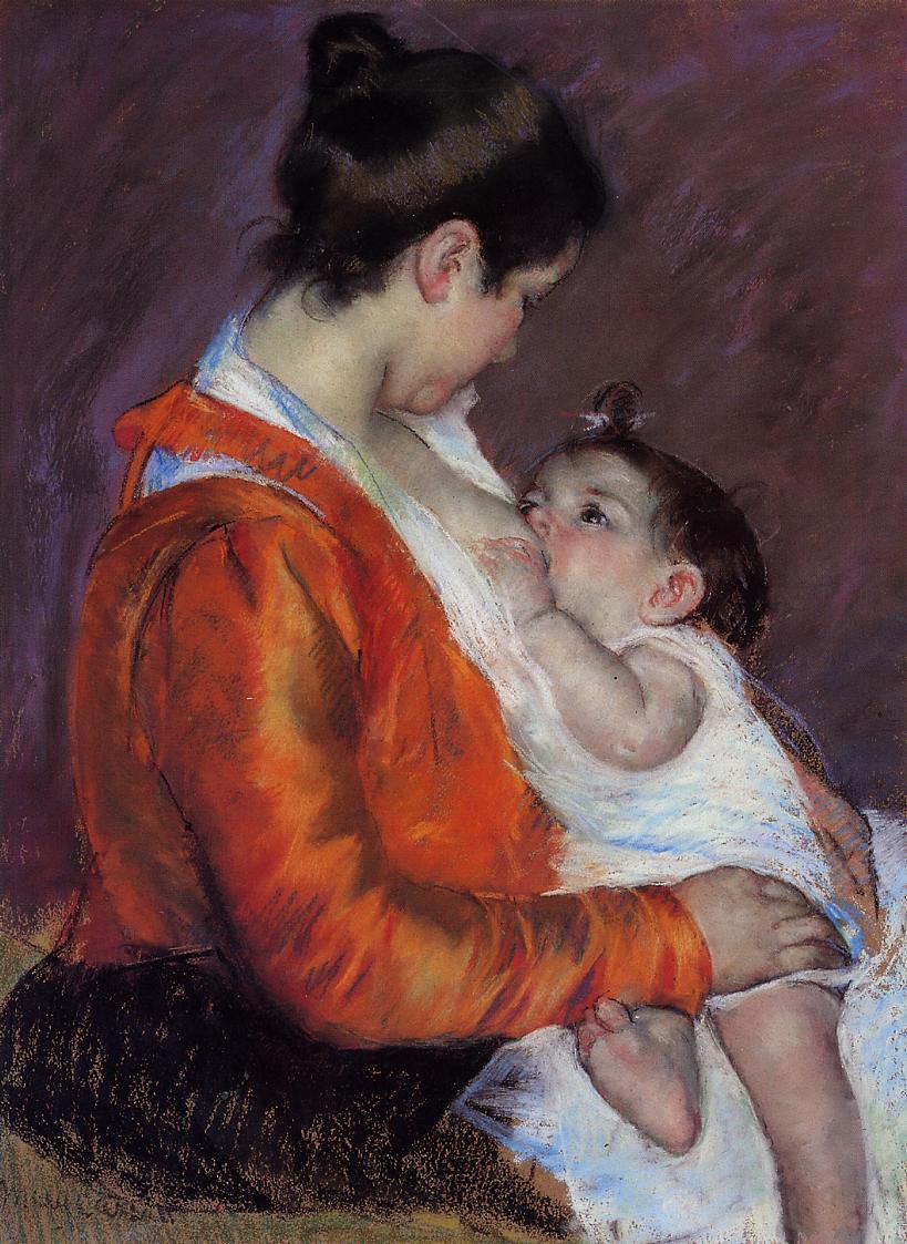 Louise Nursing Her Child, Mary Cassatt, Rau pour le Tiers Monde Foundation, Zürich, Switzerland