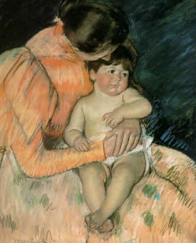 Mother And Child, Mary Cassatt, Pushkin Museum, Moscow, Russia