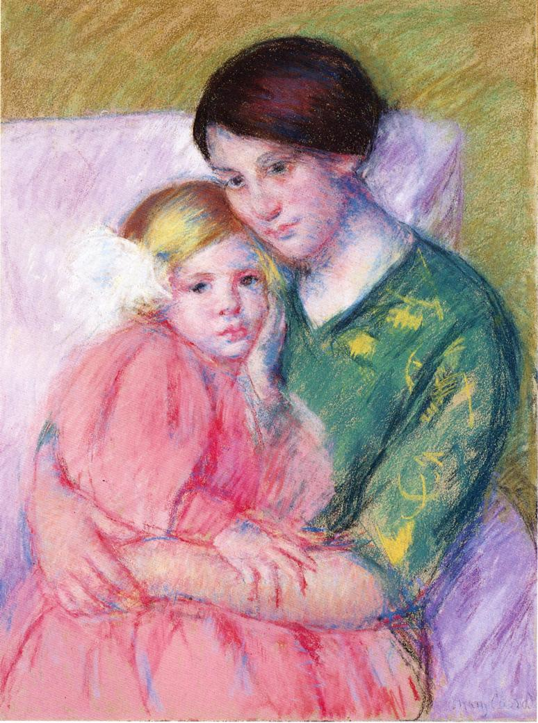 Mother And Child Reading, Mary Cassat, Private Collection