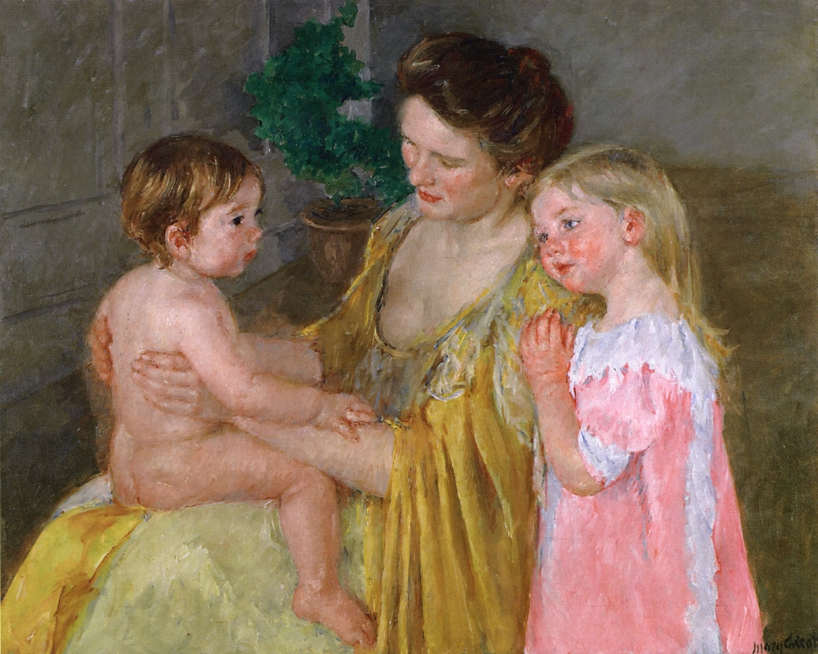 Mother And Two Children, Mary Cassatt, Private Collection