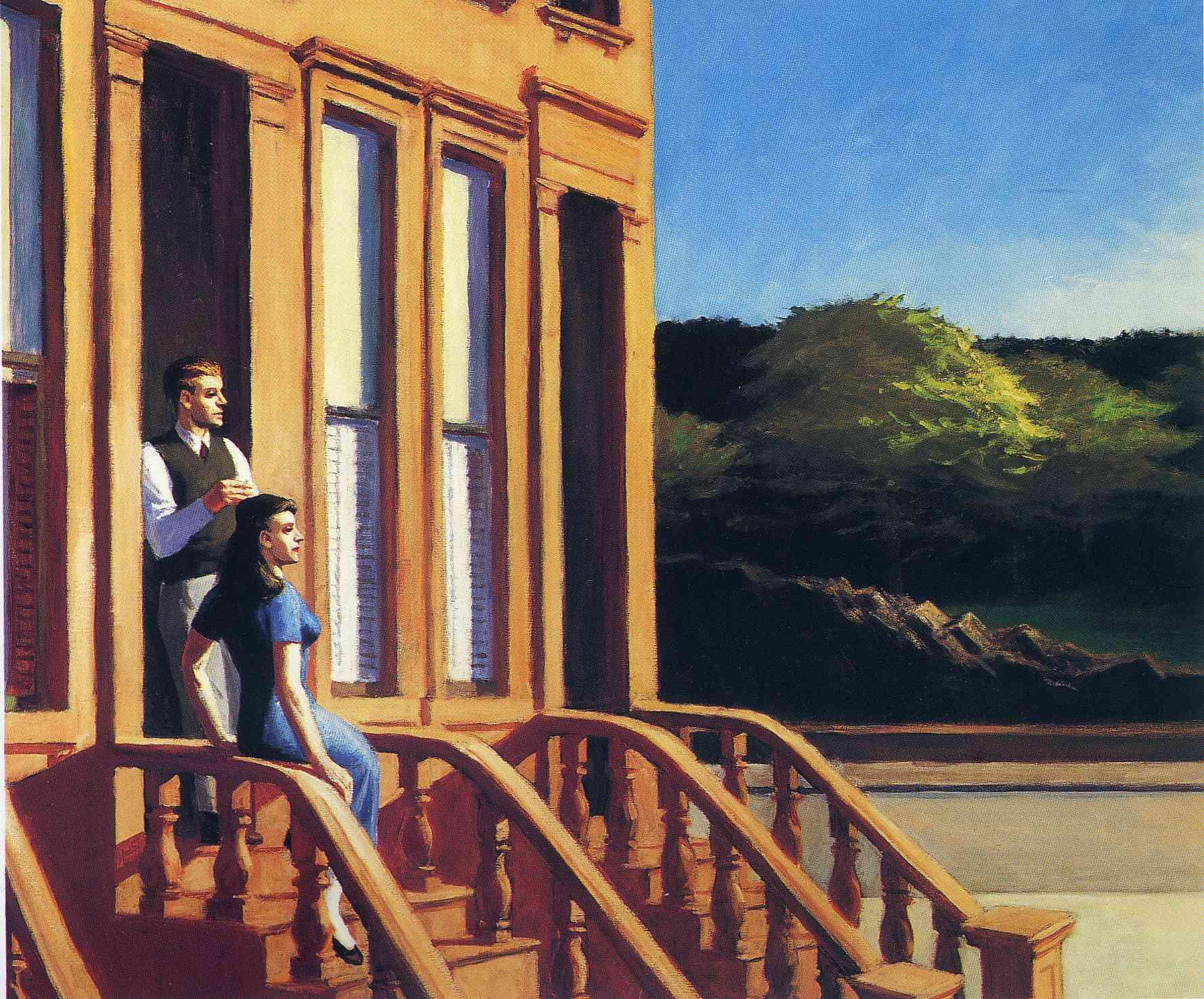 Sunlight on Brownstones, 1956