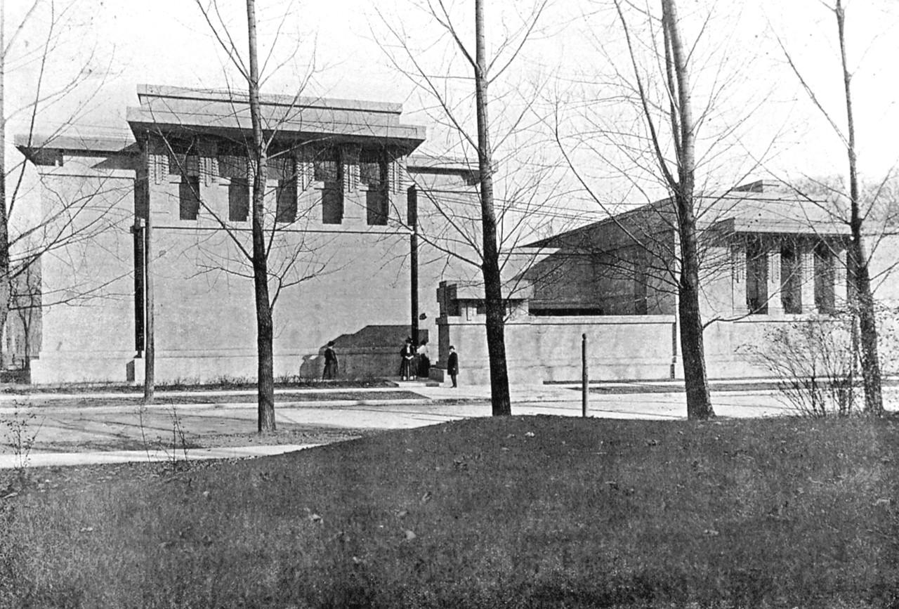 Unity Temple και Unity House, Oak Park, Illinois, 1909