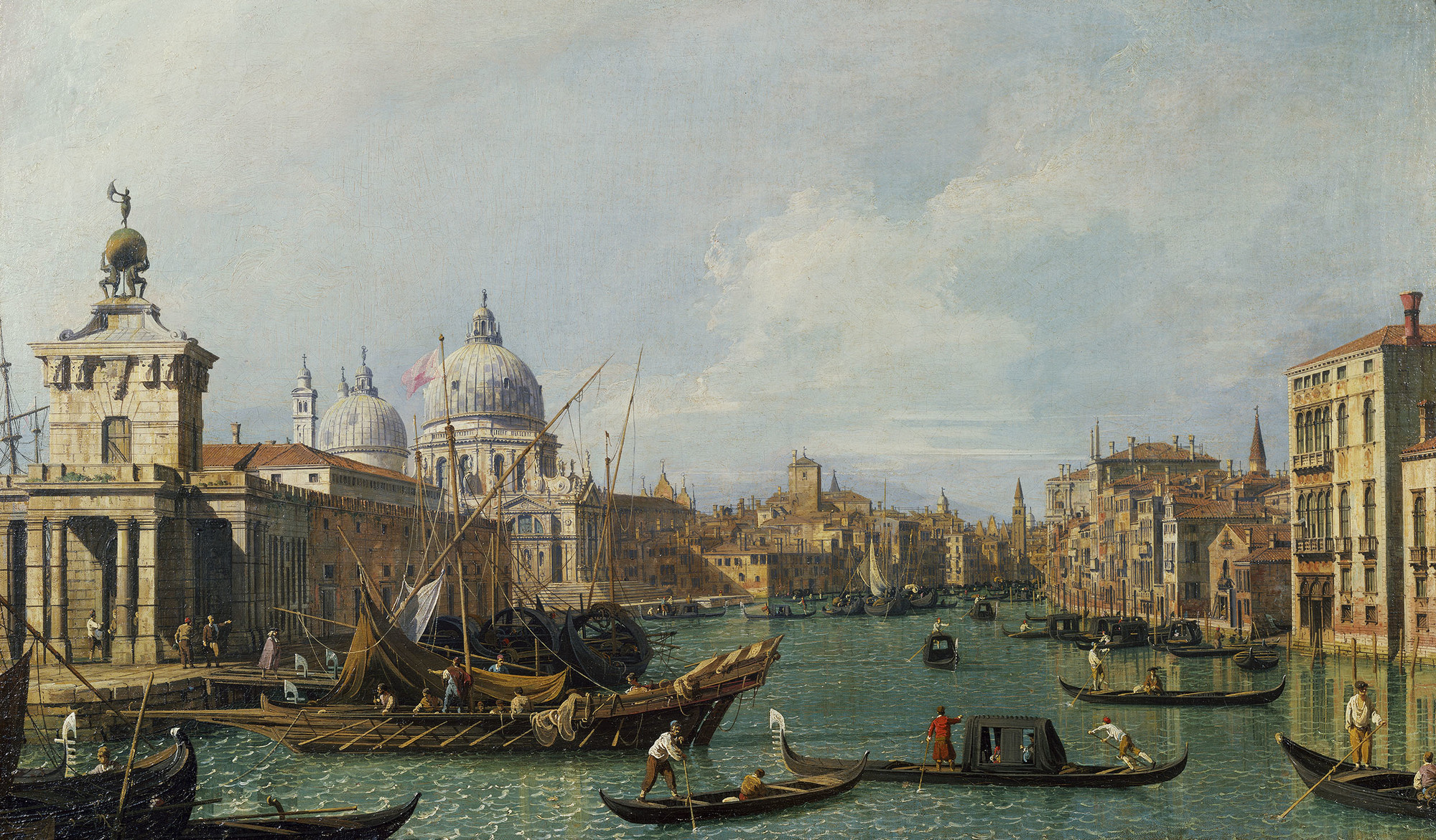 The Grand Canal with Santa Maria della Salute looking