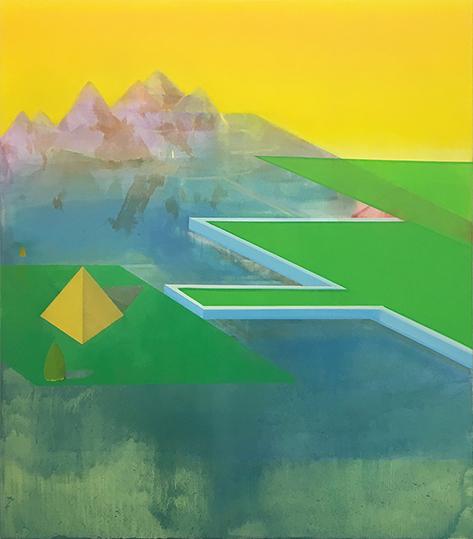 Σοφία Μητσώλα, Η Πυρπόληση της Μοναχής, 2017, λάδι σε καμβά, 160 x 140 εκ.