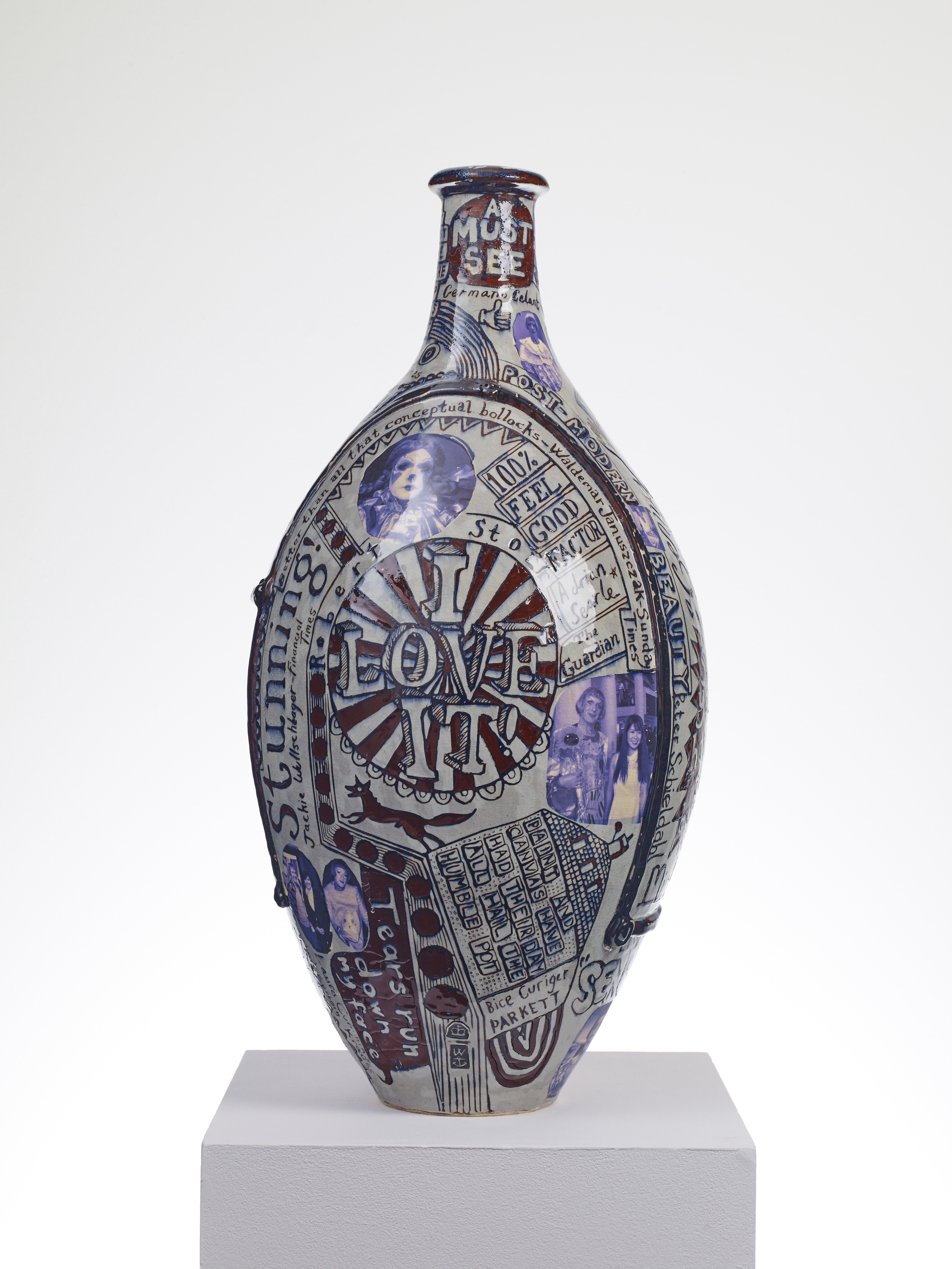 Grayson Perry, Puff Piece, 2016, Glazed ceramic, Courtesy the artist and Victoria Miro, London Photography: Stephen White © Grayson Perry