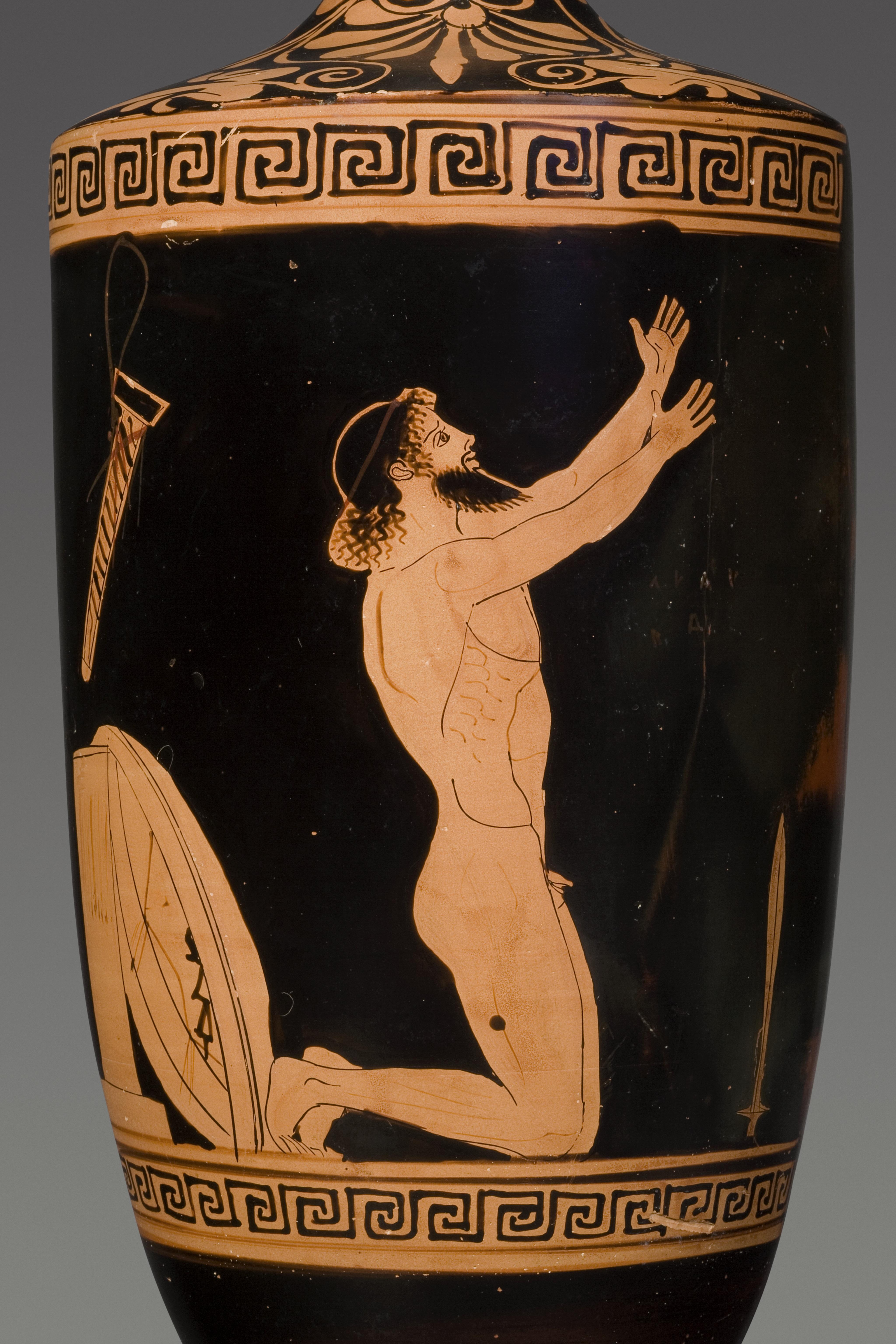 Λήκυθος. Η αυτοκτονία του Αίαντα 460 π.Χ. - Antikenmuseum Basel und Sammlung Ludwig