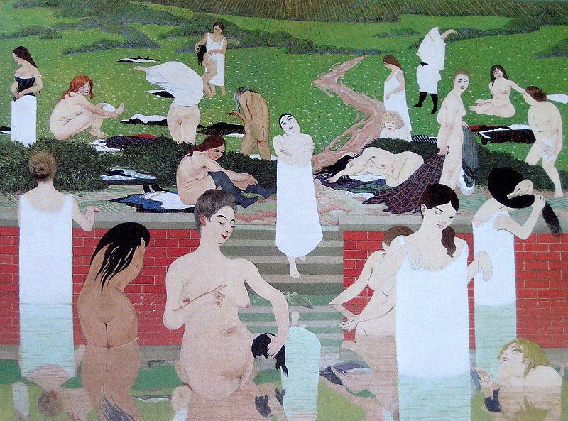 Bathers on a Summer Evening , Félix Vallotton (1892)