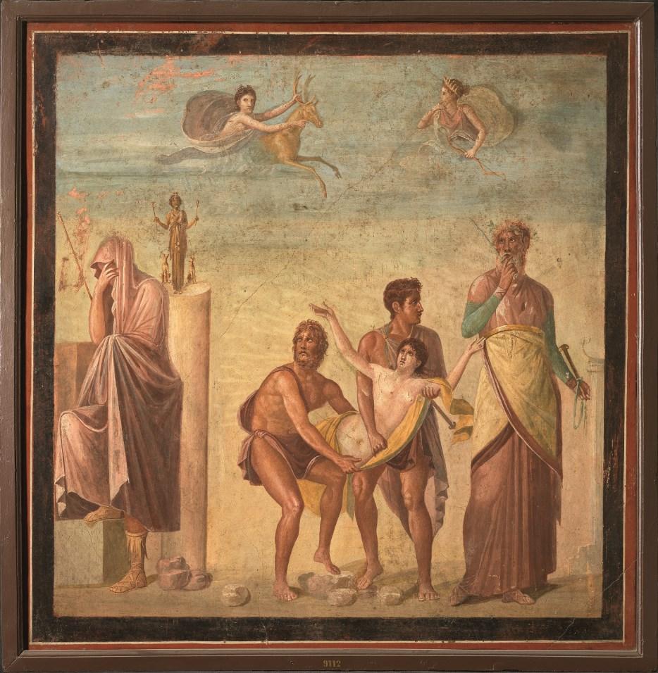 Τοιχογραφία. Η θυσία της Ιφιγένειας 62-79 μ.Χ. - Museo Archeologico Nazionale di Napoli