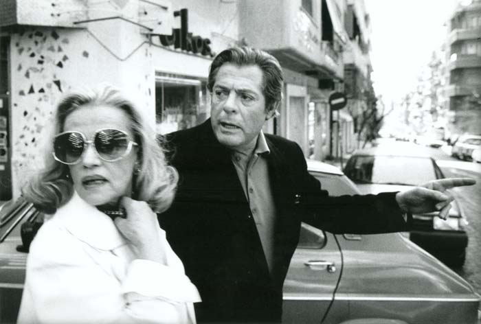 """Marcello Mastroianni and Jeanne Moreau in the film """"The Suspended Step of the Stork"""""""