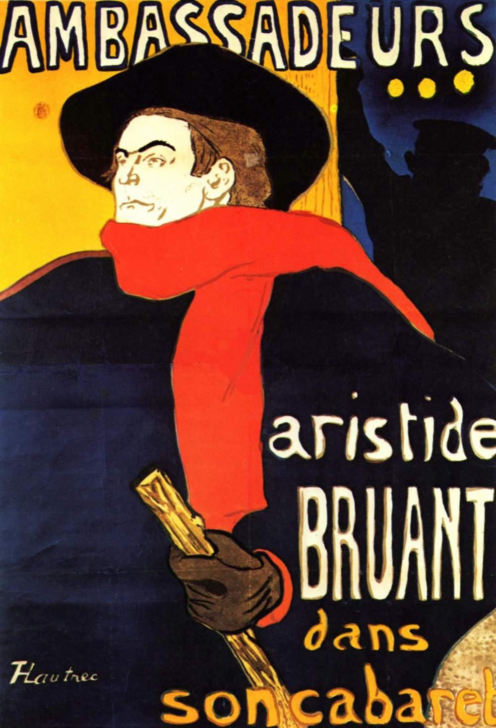 Ambassadeurs Aristide Bruant in his cabaret