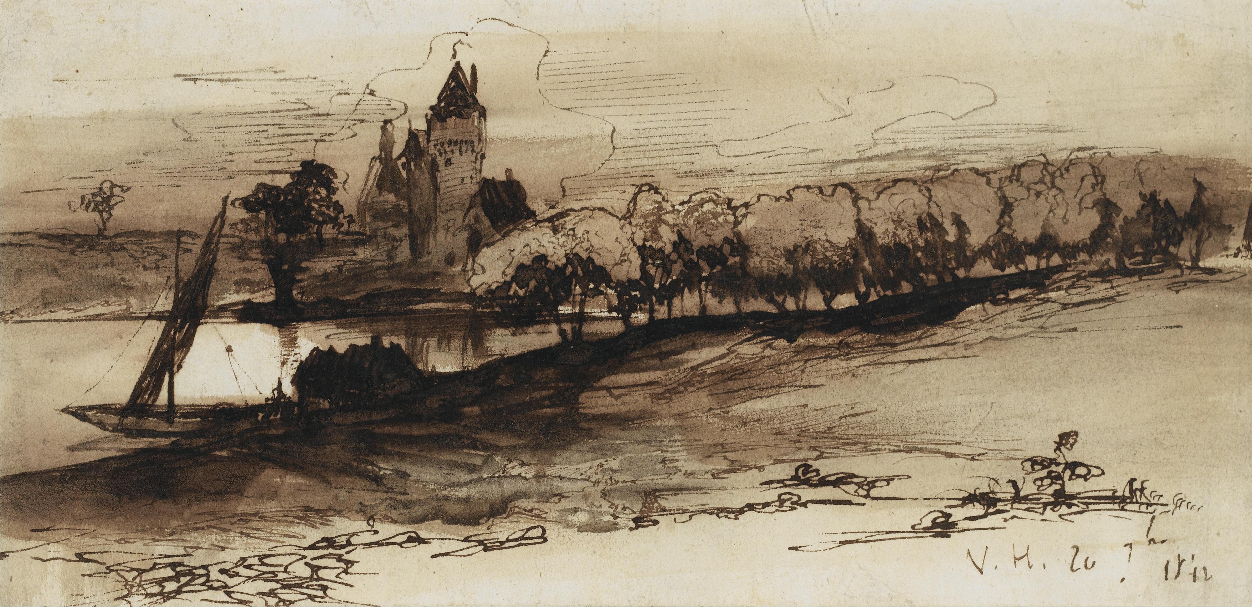 Victor Hugo, Paysage au Burg
