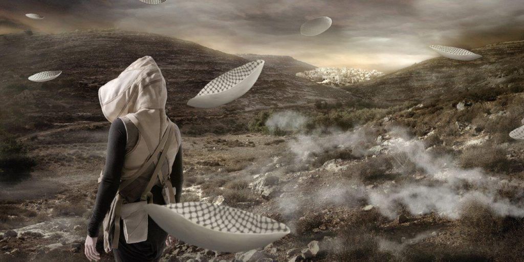 In the Future They Ate from the Finest Porcelain, Larissa Sansour, 2016. Courtesy the artist