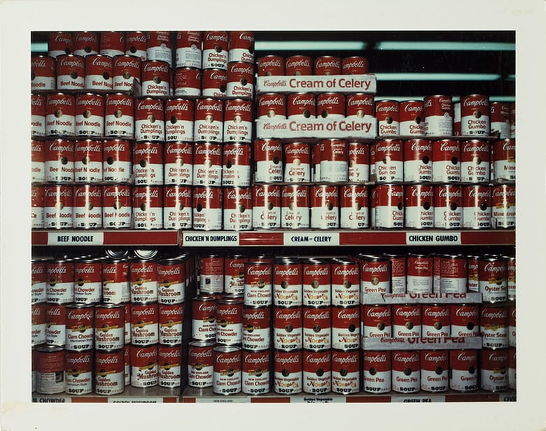 Campbell Soups, New York, 1972. Photograph: © Wim Wenders