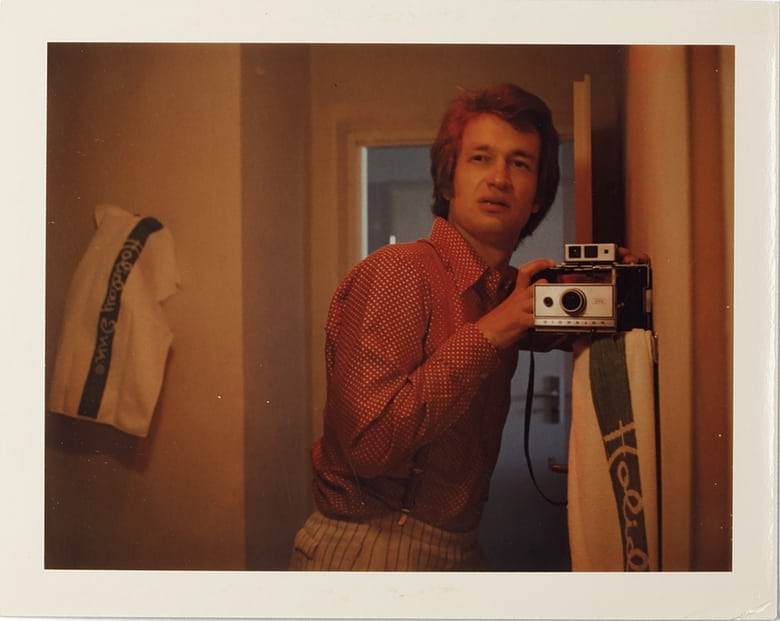 Self-portrait, 1975. Photograph: © Wim Wenders/Courtesy the Wim Wenders Foundation