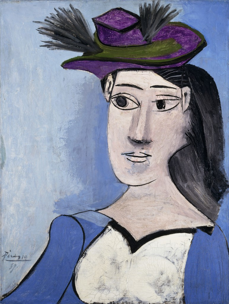 Woman with flowered hat picasso