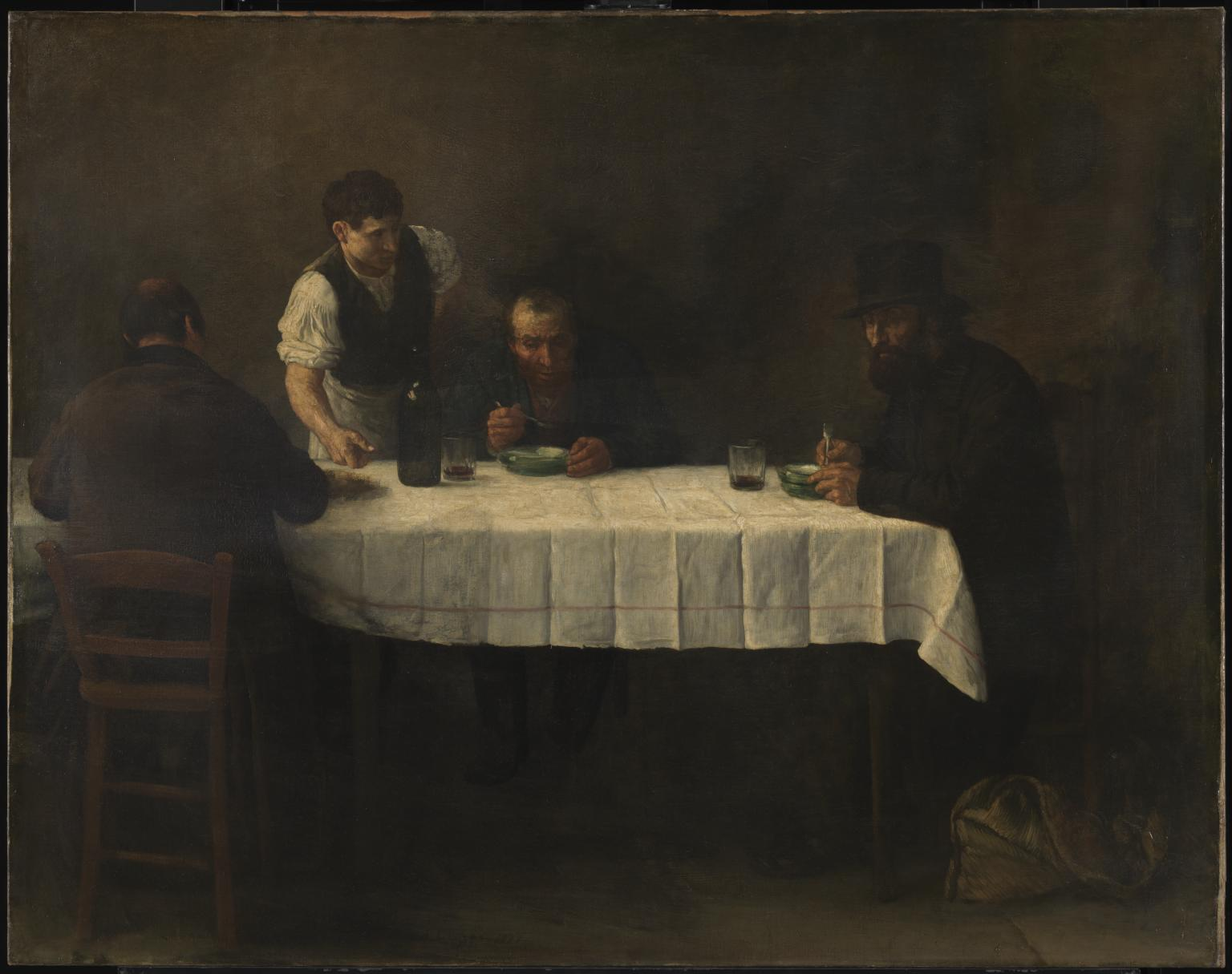 Le Repas des Pauvres 1877 Alphonse Legros 1837-1911 Presented by Rosalind, Countess of Carlisle 1912 Τate.org.uk