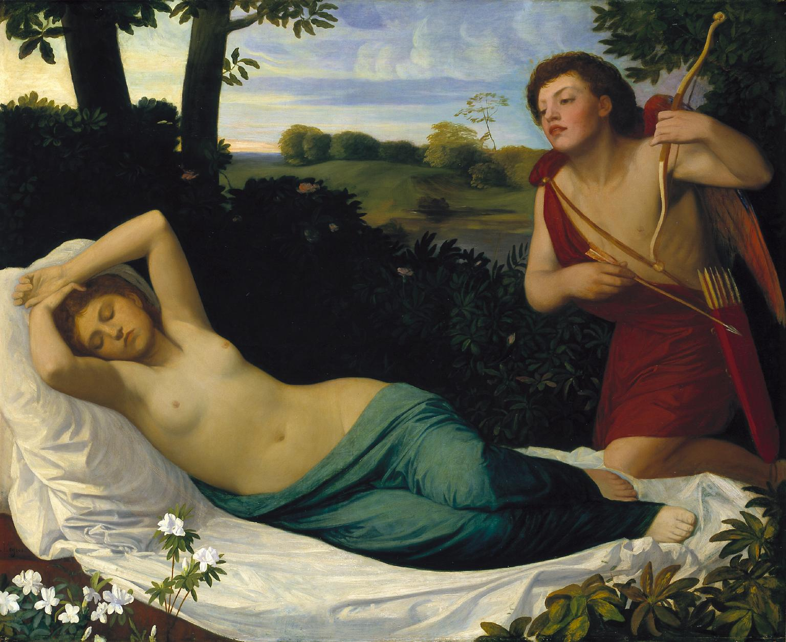 Cupid and Psyche exhibited 1867 Alphonse Legros 1837-1911 Bequeathed by Sir Charles Holroyd 1918 Τate.org.uk