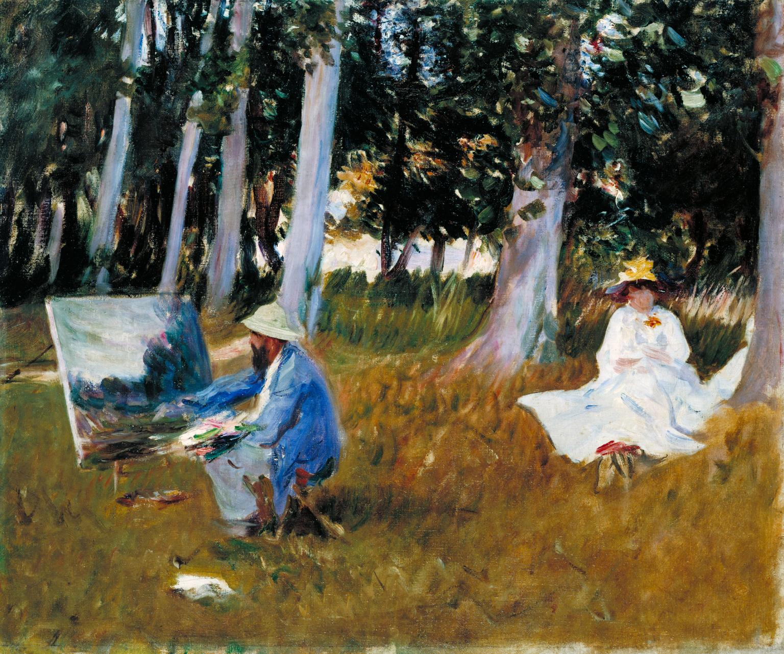 Claude Monet Painting by the Edge of a Wood, 1885, John Singer Sargent, Τate.org.uk