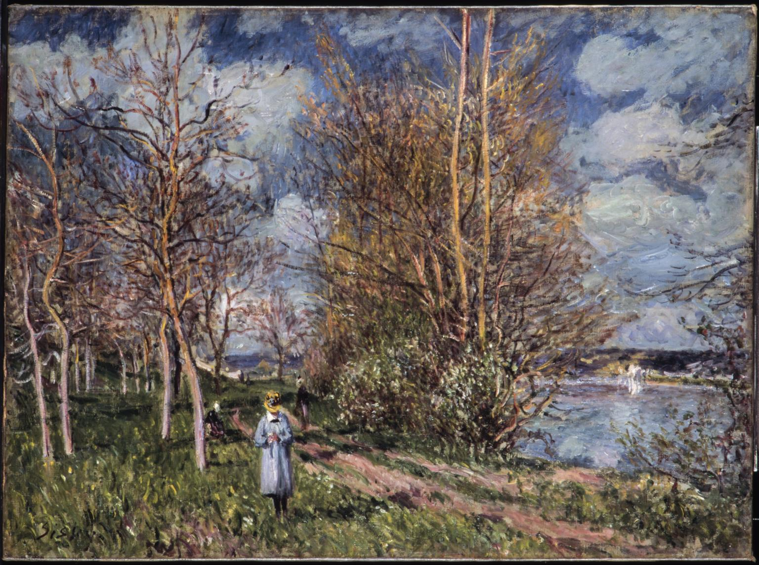 The Small Meadows in Spring 1880 Alfred Sisley 1839-1899 Tate.org.uk