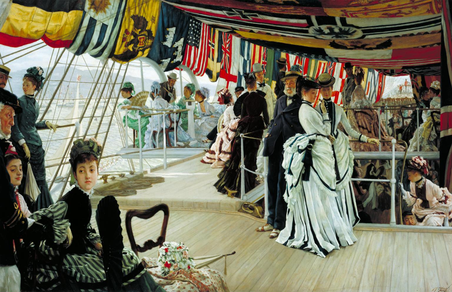 The Ball on Shipboard c.1874 James Tissot 1836-1902 Presented by the Trustees of the Chantrey Bequest 1937 Tate.org.uk