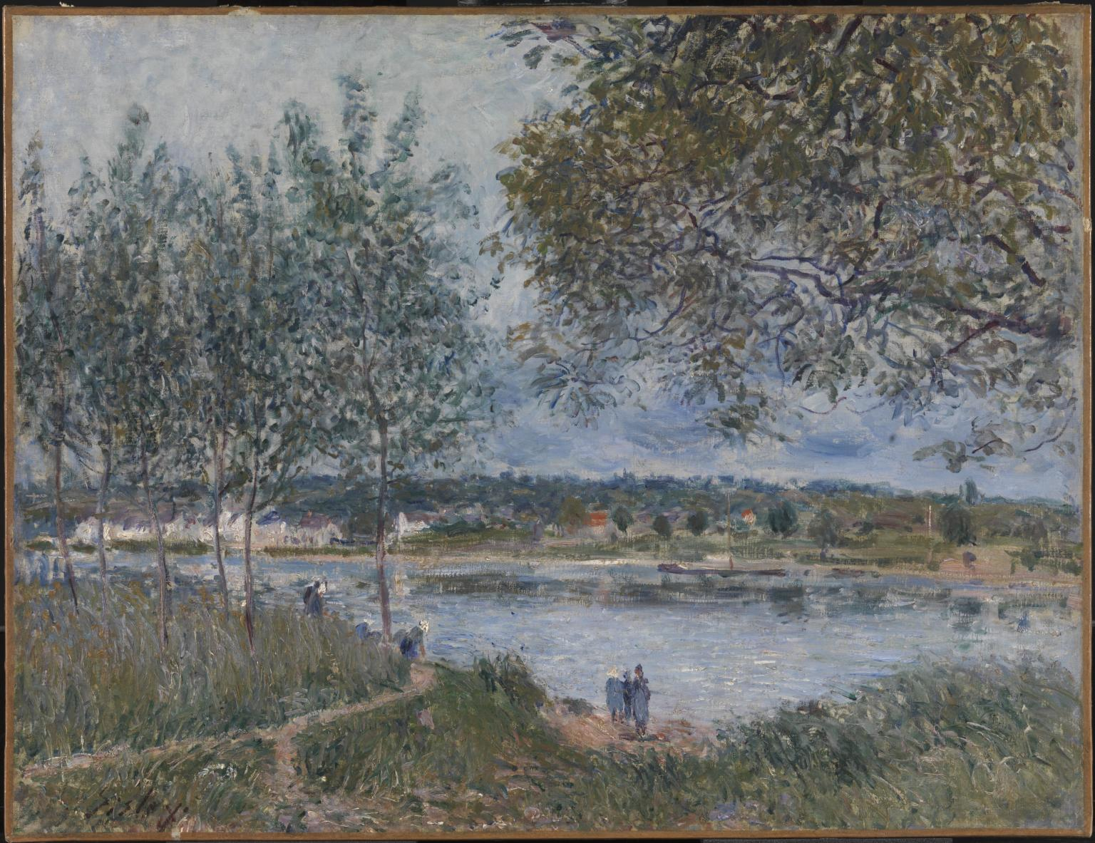 The Path to the Old Ferry at By 1880 Alfred Sisley 1839-1899 Tate.org.ukω