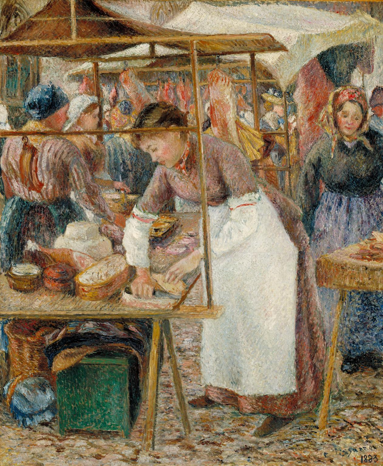 The Pork Butcher 1883 Camille Pissarro 1830-1903 Bequeathed by Lucien Pissarro, the artist's son 1944 Tate.org.uk