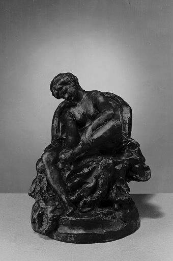 Seated Nude Taking off her Stocking circa 1875-80