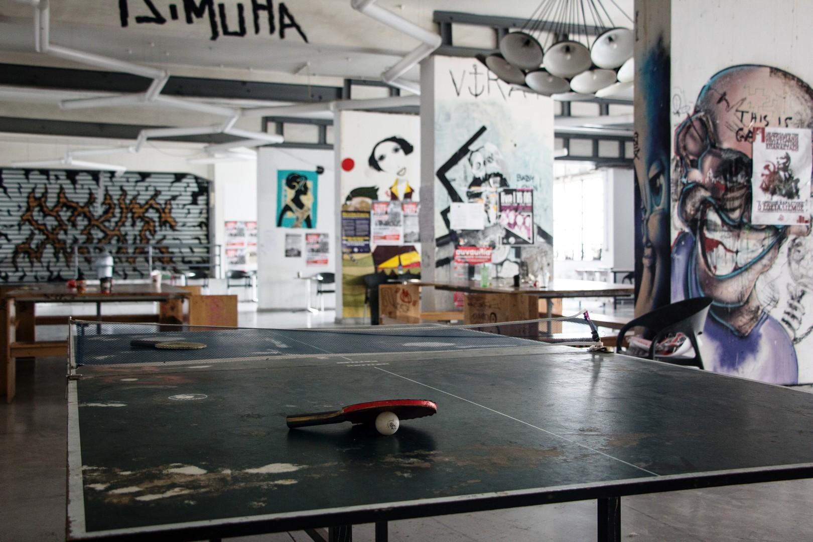 Ο χώρος του κυλικείου της ΑΣΚΤ ©Δανάη Κωτσάκη
