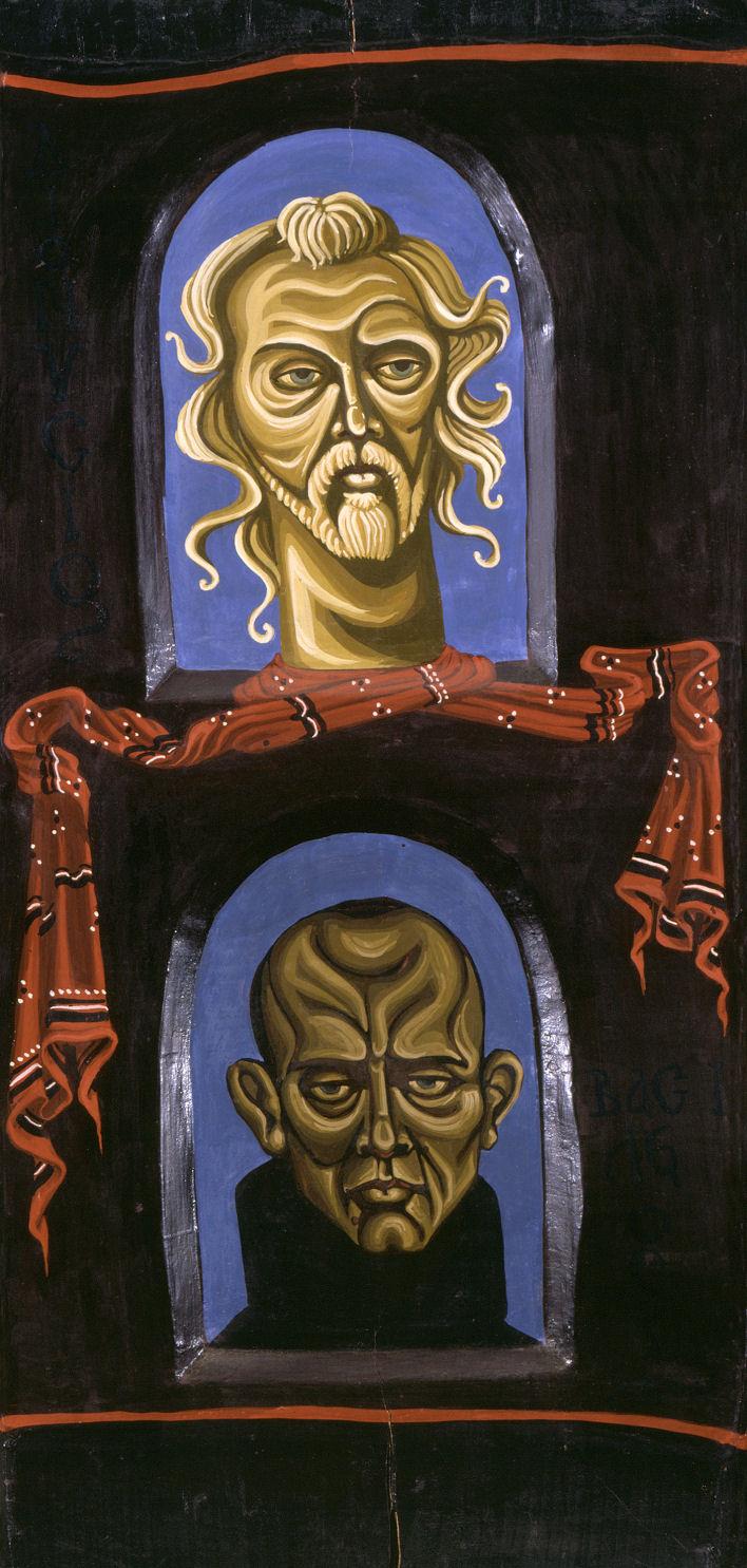 Βασίλης Φωτόπουλος, Βασίλης και Διονύσης Φωτόπουλος, λάδι σε ξύλο, π. 2000