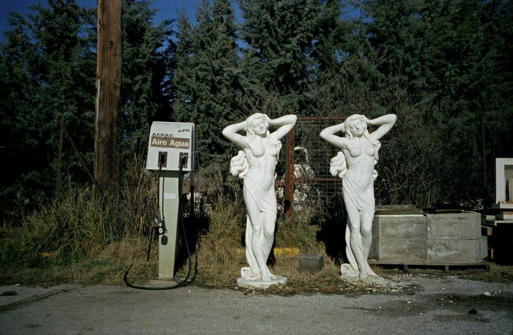 Πρατήριο βενζίνης, κοντά στις Λίμνες Πρέσπες, Βόρεια Ελλάδα