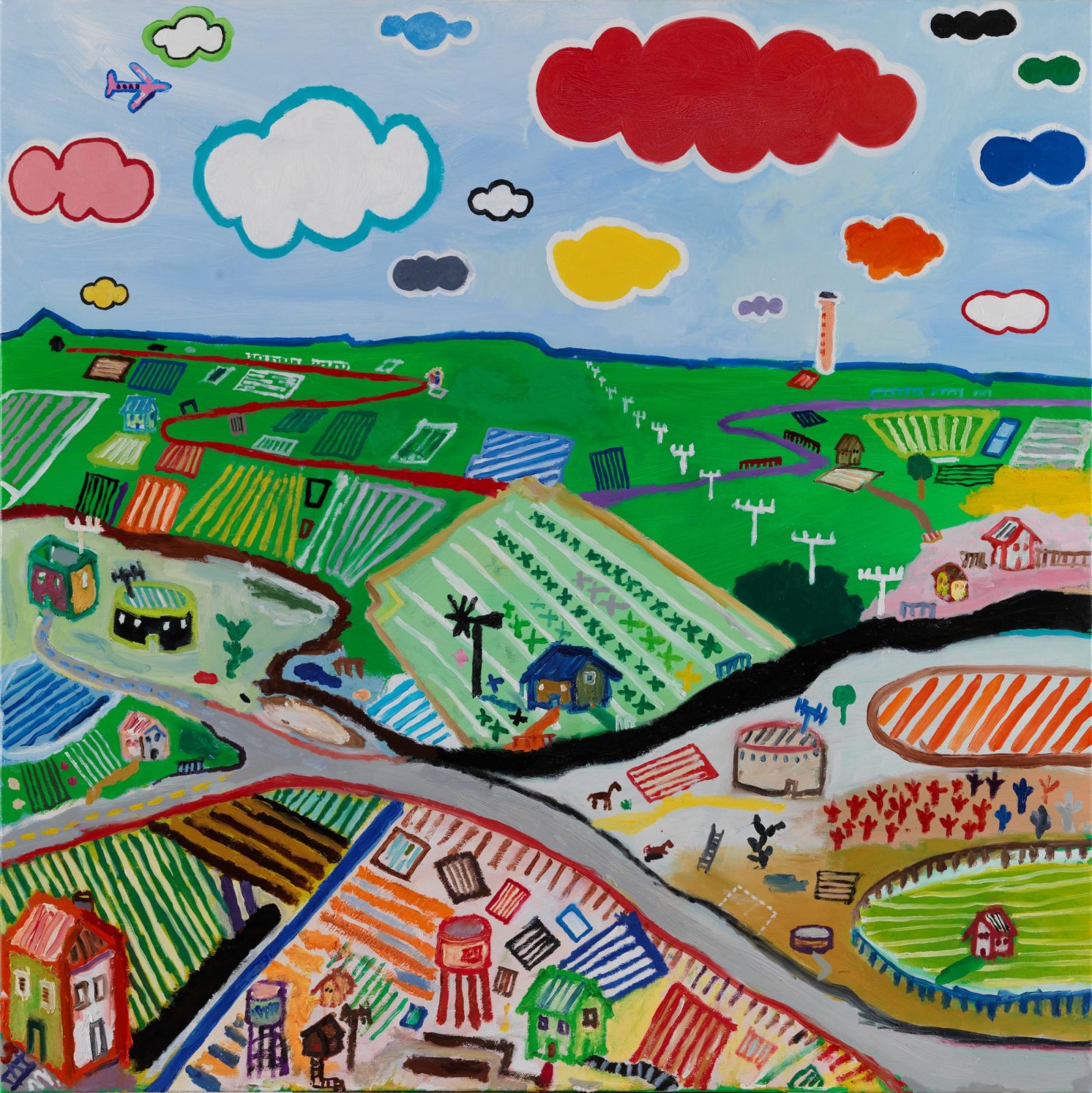 Nikos-Lagos_Untitled-Utopia_Oil-on-canvas_100X100cm