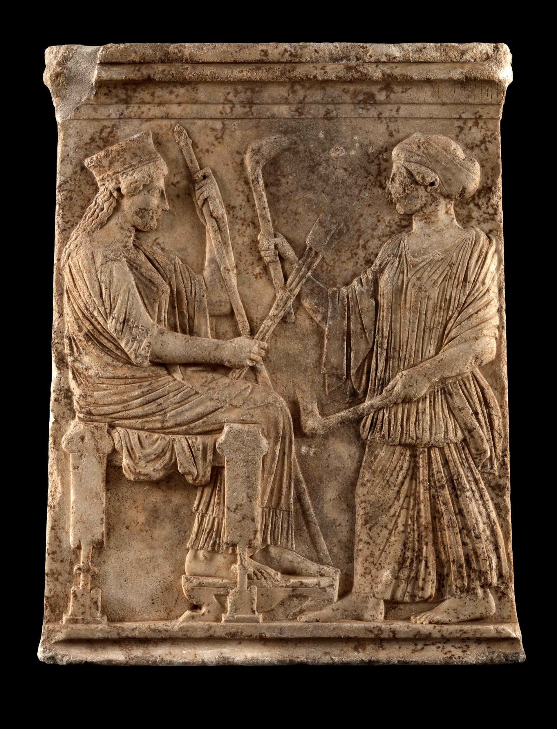 Ανάγλυφο με παράσταση Δήμητρας και Κόρης, 1ο μισό 5ου αιώνα π.Χ.