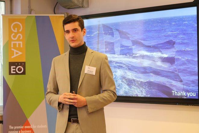 O Ανάργυρος σαν φοιτητής του Πανεπιστημίου του Πειραιά ανακηρύχθηκε νικητής του παγκόσμιου φοιτητικού διαγωνισμού Global Student Entrepreneur Awards (GSEA) του Entrepreneur's Organization (EO).