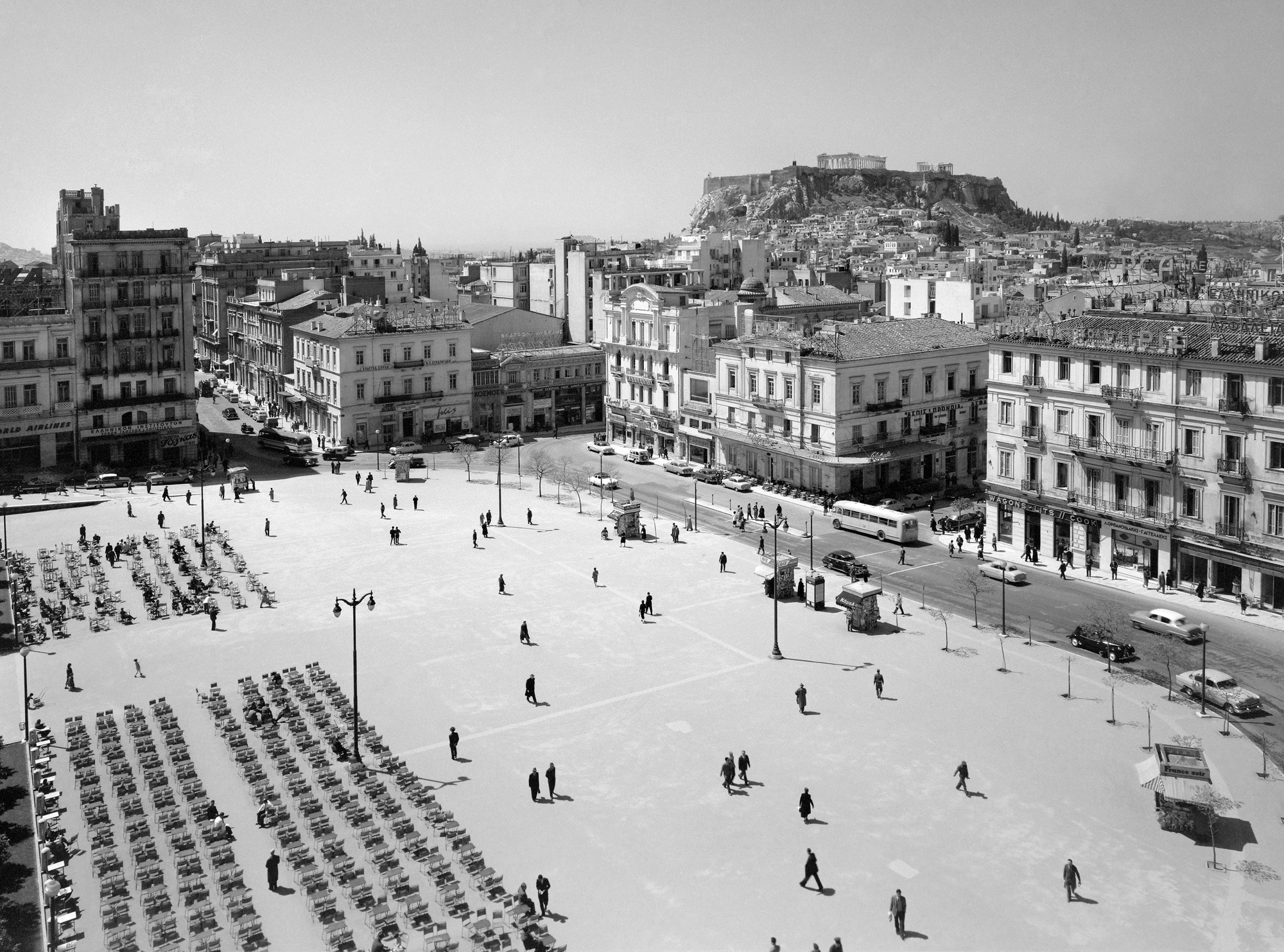 Δημήτριος Χαρισιάδης - Άποψη της Πλατείας Συντάγματος, 1956