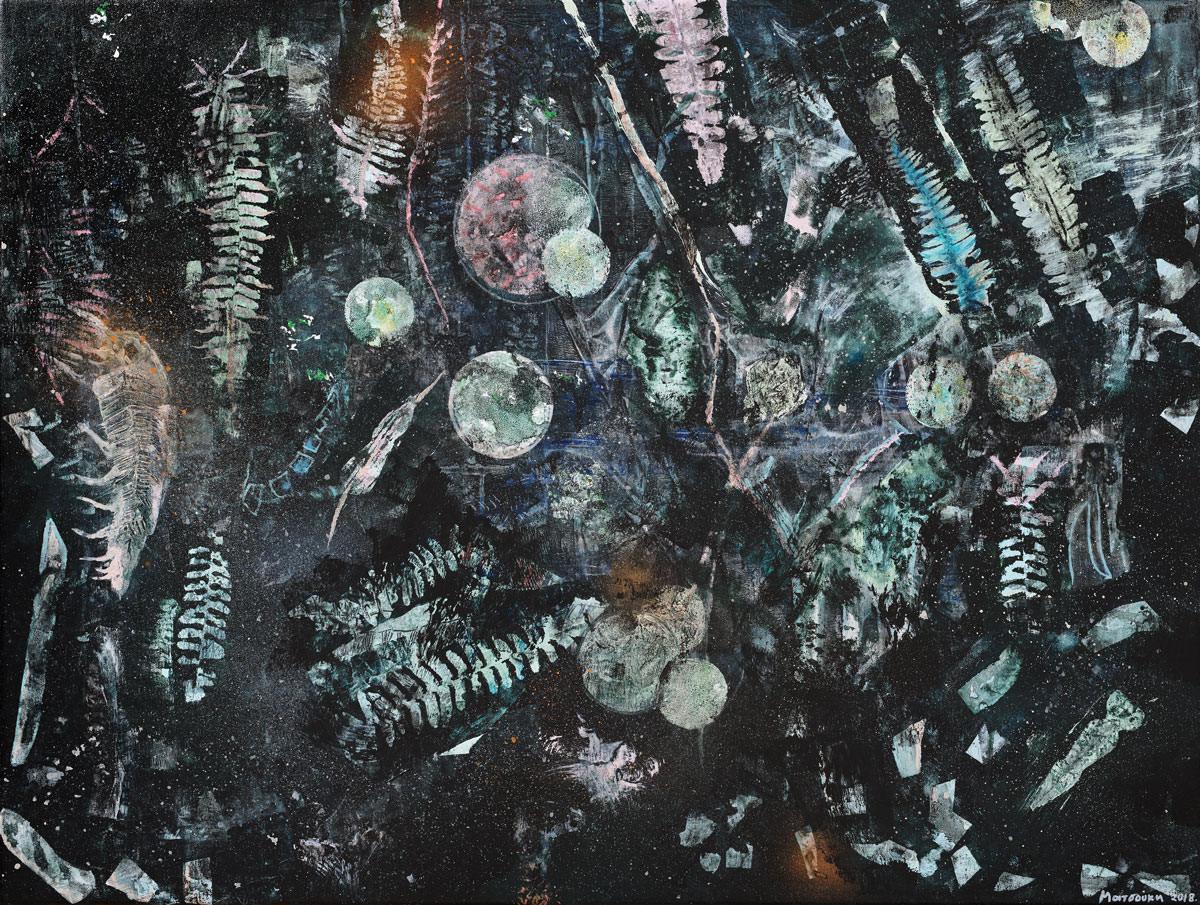 Ματσούκη Ειρήνη, Χωρίς τίτλο, 60 x 80 cm, Ακρυλικά και λάδι σε καμβά, 2018