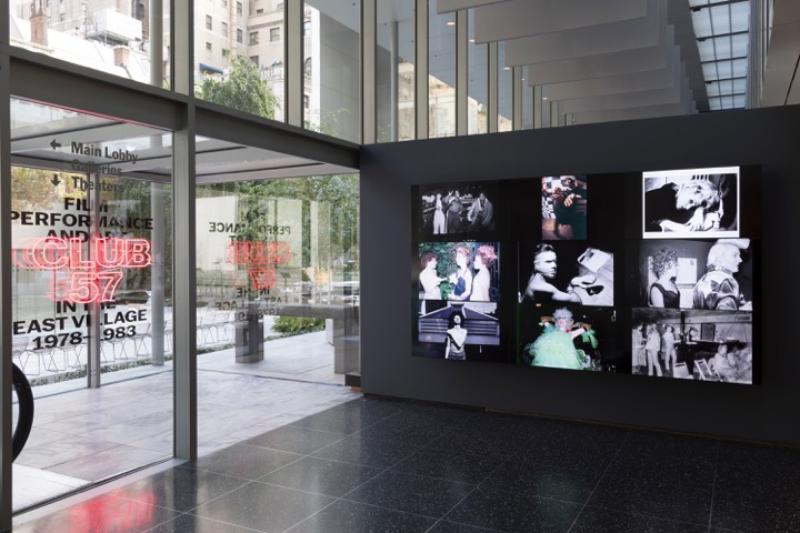 Installation view of Club 57: Film, Performance, and Art in the East Village, 1978–1983, The Museum of Modern Art, New York, October 31, 2017-April 8, 2018. © 2017 The Museum of Modern Art. Photo: Robert Gerhardt