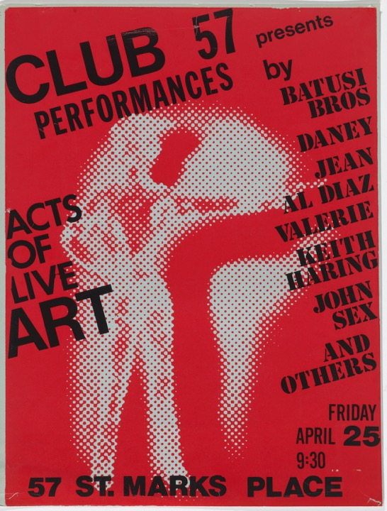 John Sex (American, 1956–1990). Acts of Live Art, 1980. Silkscreen. The Museum of Modern Art, New York. Department of Film Special Collections