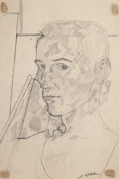 Αυτοπροσωπογραφία Μολύβι σε χαρτί 32 Χ 22 εκ. Ιδιωτική συλλογή