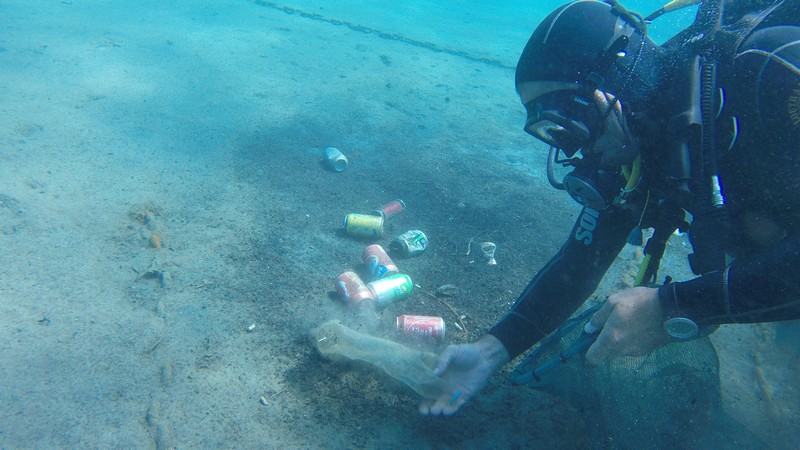 We dive we clean