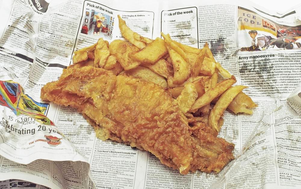 Οι Άγγλοι λένε ότι η εφημερίδα μεγαλώνει την νοστιμιά!