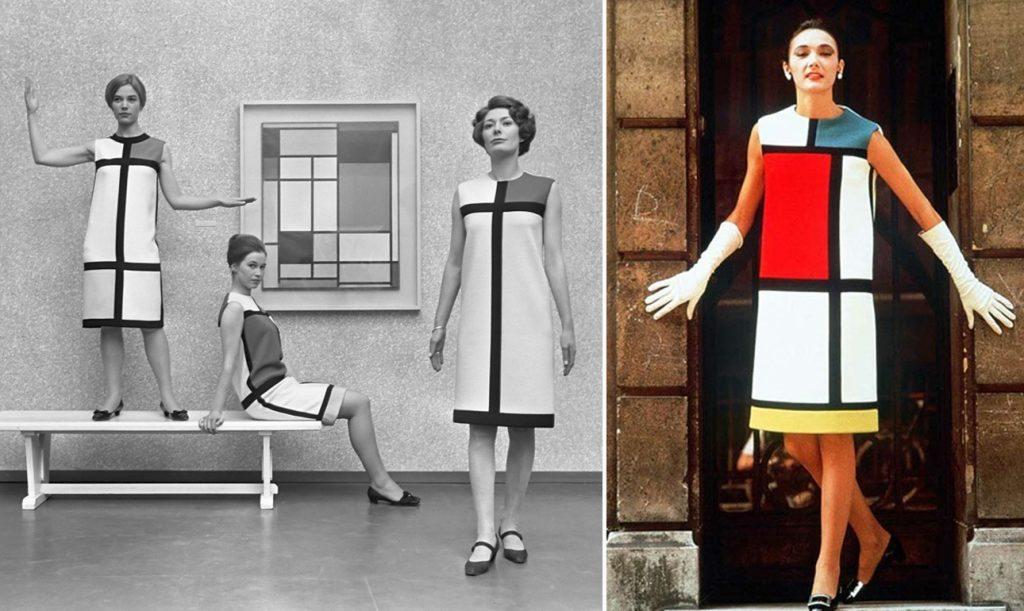 Το 1965 παρουσιάζει για πρώτη φορά το διάσημο φόρεμα-Μοντριάν, εμπνευσμένο από τον Ολλανδό ζωγράφο Πιετ Μοντριάν