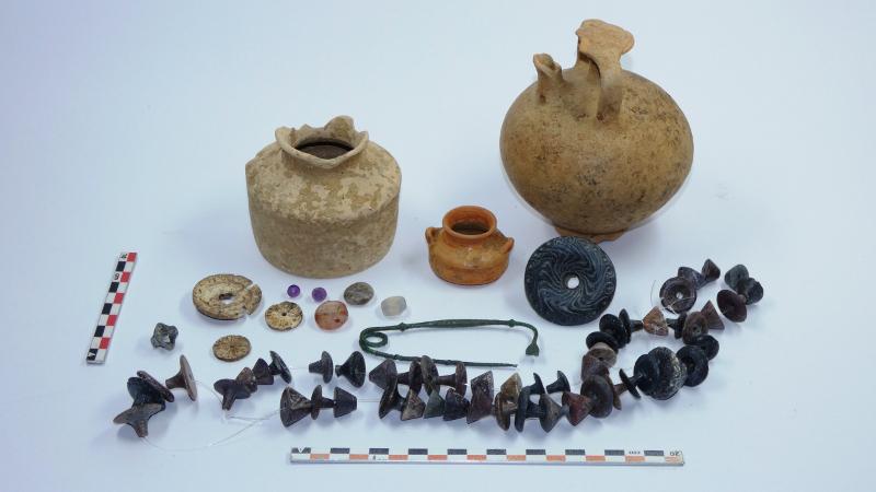 Ευρήματα από τον θαλαμοειδή μυκηναϊκό τάφο